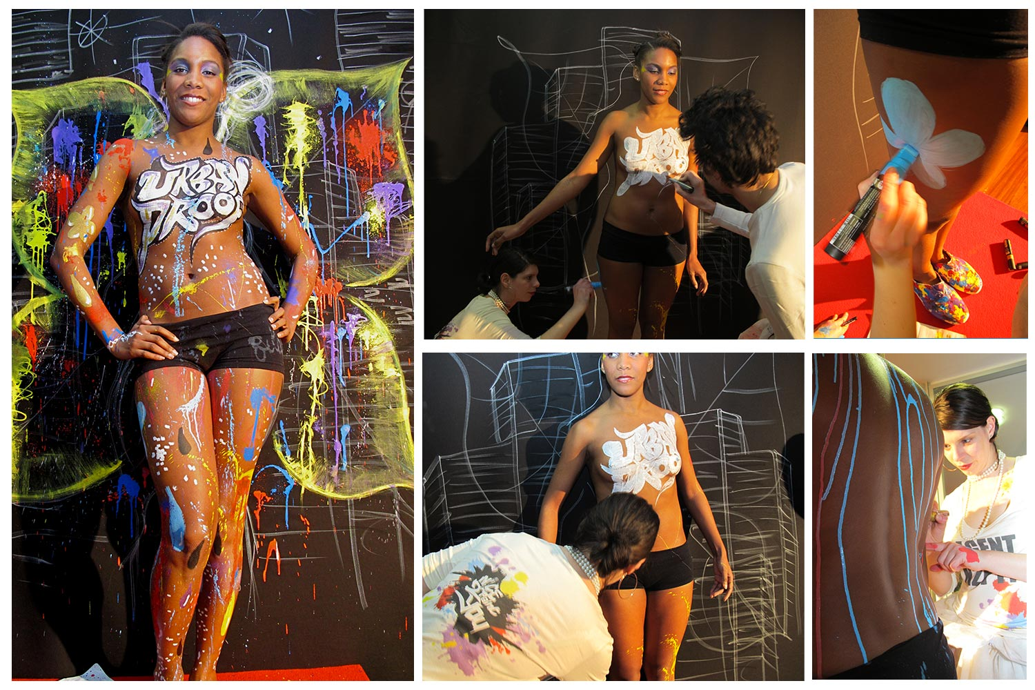 demonstration de body painting